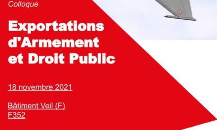 Colloque exportations d'armement et droit public
