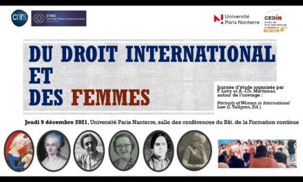 Du droit international et des femmes